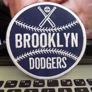 Vintage Brooklyn Dodgers Baseball Iron On Patch